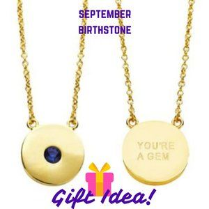 September Birthstone Necklace in 14K Gold Plate